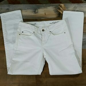 GAP white jeans 'real straight' 25r